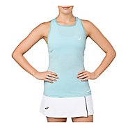 Womens ASICS Sleeveless & Tank Technical Tops - Porcelain Blue L