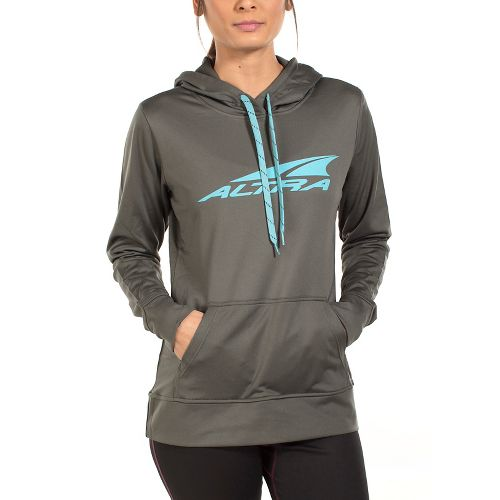 Womens Altra Core Hoody Half-Zips & Hoodies Jackets - Grey M