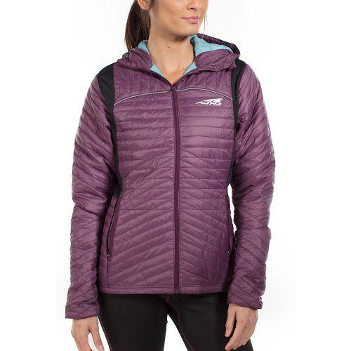 Womens Altra Micropuff Stretch Cold Weather Jackets - Plum M