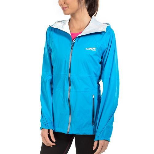 Womens Altra Wasatch Jacket Running Jackets - Methyl Blue XS