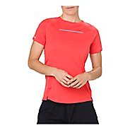 Womens ASICS Lite-Show Short Sleeve Technical Tops - Coralicious XS
