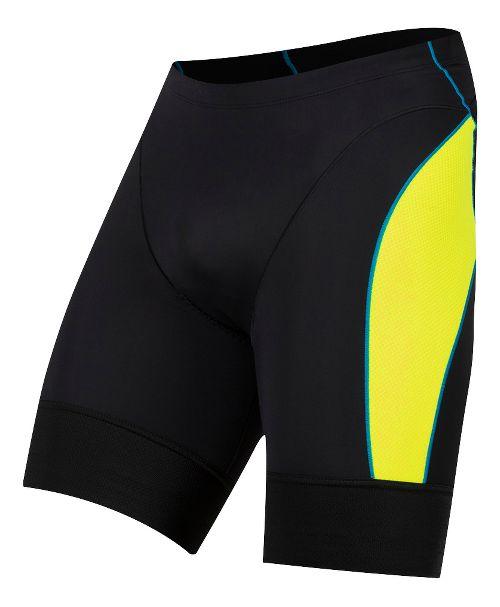 Mens Pearl Izumi Elite Pursuit Tri Compression & Fitted Shorts - Black/Yellow L
