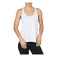 Womens ASICS Loose Sleeveless & Tank Non-Technical Tops - Brilliant White L