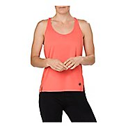 Womens ASICS Loose Sleeveless & Tank Non-Technical Tops - Coralicious Heather XS
