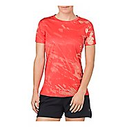 Womens ASICS Short Sleeve Non-Technical Tops - Shadow Coralicious XS