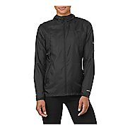 Womens ASICS Packable Rain Jackets - Performance Black XL