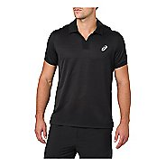 Mens ASICS Classic Polo Short Sleeve Non-Technical Tops - Performance Black L