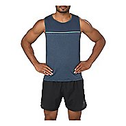 Mens ASICS Cool  Singlet Sleeveless & Tank Tops Non-Technical Tops - Dark Blue L