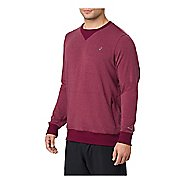 Mens ASICS Crew Long Sleeve Technical Tops
