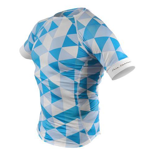 Mens De Soto SkinCooler Short Sleeve Technical Tops - Blue Hive L