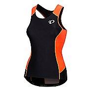 Womens Pearl Izumi Elite Pursuit Tri Sleeveless & Tank Tops Technical Tops - Fiery Coral/Orange XL