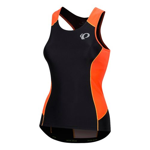 Womens Pearl Izumi Elite Pursuit Tri Sleeveless & Tank Tops Technical Tops - Fiery Coral/Orange M