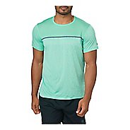 Mens ASICS Gel-Cool Short Sleeve Technical Tops - Opal Green S