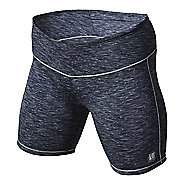 Womens De Soto Run Compression & Fitted Shorts - Black Heather L
