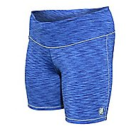 Womens De Soto Run Compression & Fitted Shorts - Blue Heather L