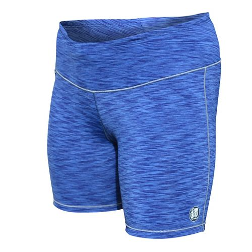 Womens De Soto Run Compression & Fitted Shorts - Blue Heather L