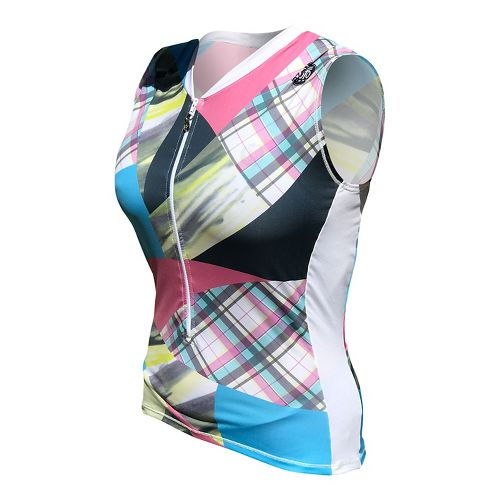 Womens De Soto Skin Cooler Tri Top - Sleeveless & Tank Technical Tops - Multi-Color Print L