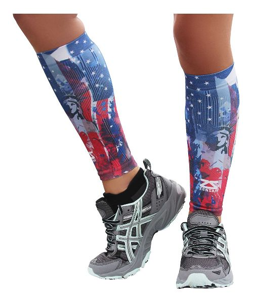 Zensah Independence Print Compression Leg Sleeves Injury Recovery - Liberty L/XL