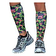 Zensah Tropical Print Compression Leg Sleeves Injury Recovery - Flamingo S/M