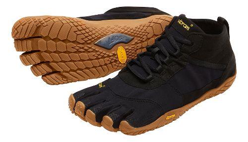 Womens Vibram V-Trek Trail Running Shoe - Black/Gum 37