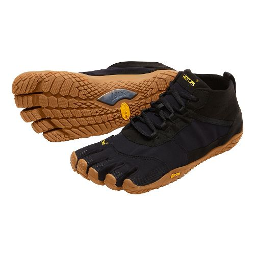 Womens Vibram V-Trek Trail Running Shoe - Black/Gum 39