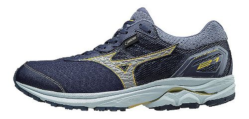 Mens Mizuno Wave Rider 21 GTX Running Shoe - Dress Blue/Silver 10