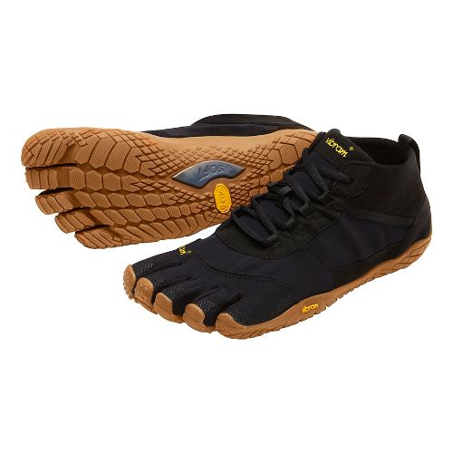 Mens Vibram V-Trek Trail Running Shoe - Black/Gum 42