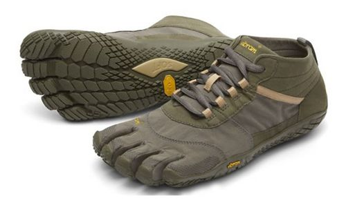 Mens Vibram V-Trek Trail Running Shoe - Military/Dark Grey 43