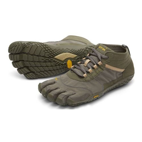 Mens Vibram V-Trek Trail Running Shoe - Military/Dark Grey 43