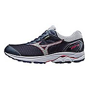 Womens Mizuno Wave Rider 21 GTX Running Shoe - Eclipse/Silver 11.5