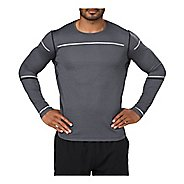 Mens ASICS Lite-Show Long Sleeve Technical Tops - Performance Black L