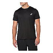 Mens ASICS Short Sleeve Technical Tops - Performance Black XL