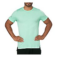 Mens ASICS Seamless Short Sleeve Technical Tops - Opal Green Heather L