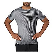 Mens ASICS Printed Short Sleeve Technical Tops
