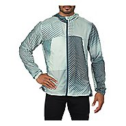 Mens ASICS Packable Rain Jackets - Linear Sprout Green S
