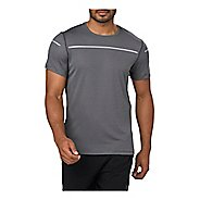 Mens ASICS Lite-Show Short Sleeve Technical Tops - Dark Grey L
