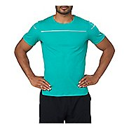 Mens ASICS Lite-Show Short Sleeve Technical Tops - Lake Blue S