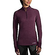 Womens Brooks Fly-By Half-Zip & Hoodies Technical Tops