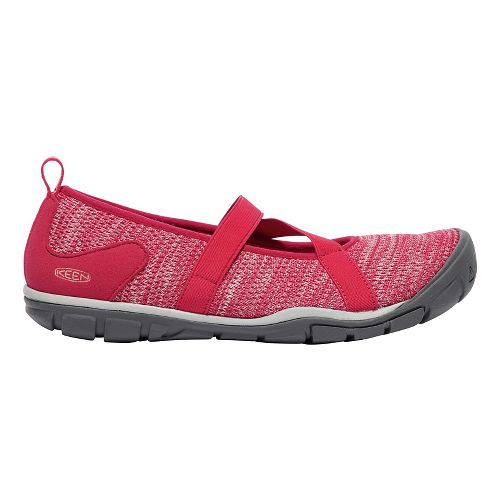 Womens Keen Hush Knit MJ Casual Shoe - Barberry 6