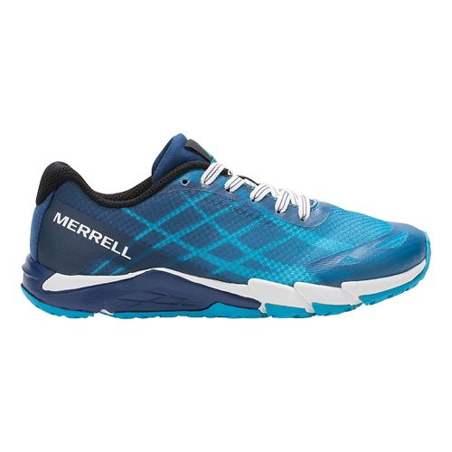 Boys Merrell Bare Access Trail Running Shoe - Blue 2Y