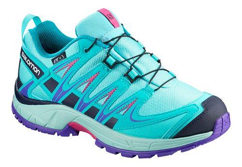 Kids Salomon XA PRO 3D CSWP Trail Running Shoe - Blue Curacao 12C
