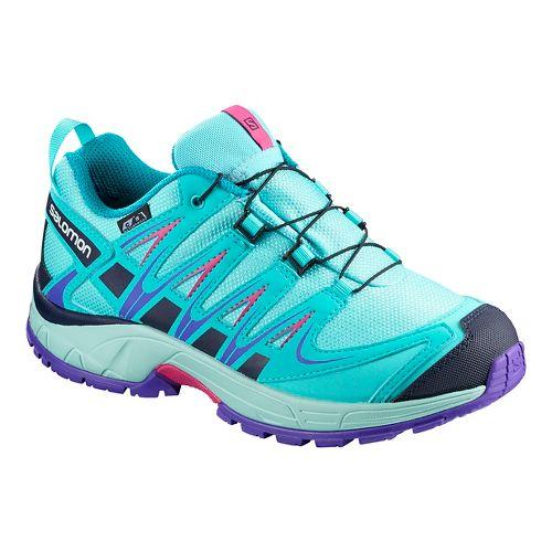 Kids Salomon XA PRO 3D CSWP Trail Running Shoe - Blue Curacao 10.5C
