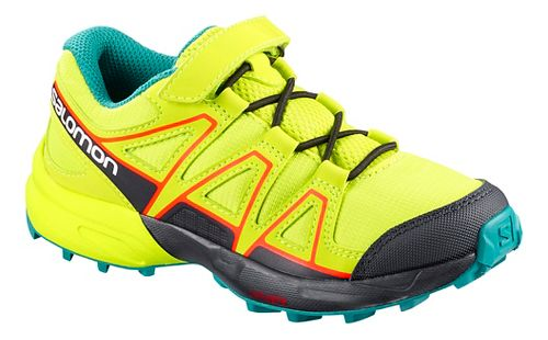 Kids Salomon Speedcross Bungee Trail Running Shoe - Acid Lime 11C