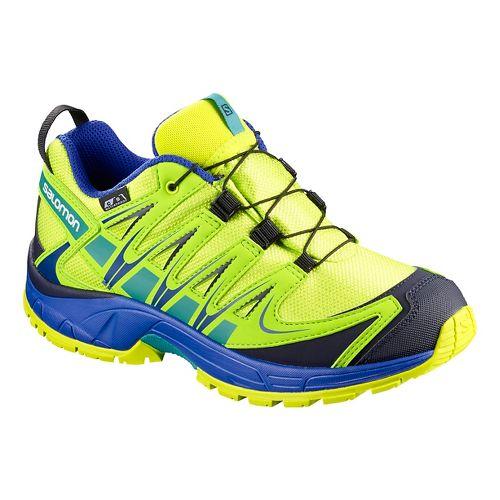 Kids Salomon XA PRO 3D CSWP Trail Running Shoe - Acid Lime 13C