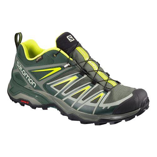 Mens Salomon  X ULTRA 3 GTX Hiking Shoe - Grey Lime 8