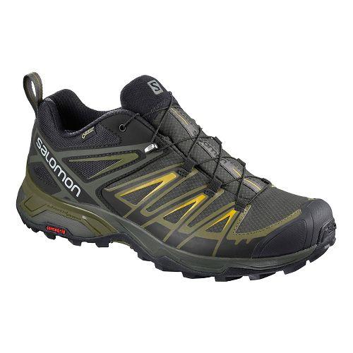 Mens Salomon  X ULTRA 3 GTX Hiking Shoe - Grey Lime 11