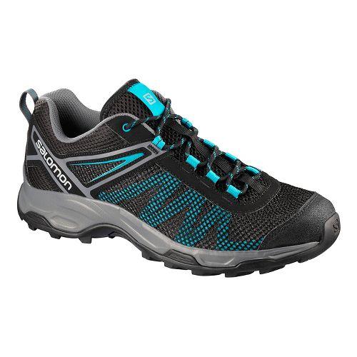 Mens Salomon X Ultra Mehari Hiking Shoe - Black Blue 7.5