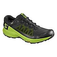 Mens Salomon XA Elevate GTX Running Shoe - Black Green 11.5