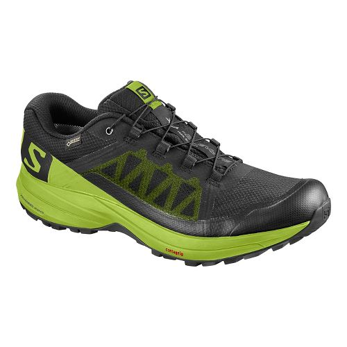Mens Salomon XA Elevate GTX Running Shoe - Black Green 8