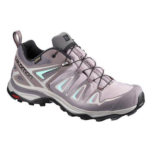 Womens Salomon X Ultra 3 GTX Hiking Shoe - Magnet Shark 11